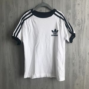 Youth Adidas trefoil three stripe t-shirt